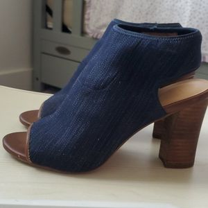 Women blue Solano open toe bootie
